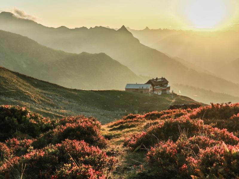 Abend -Kaltenberghütte